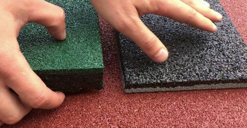 Резиновая плитка: особенности и виды