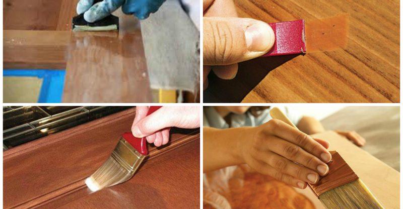 Особенности косметического ремонта шпонированных дверей